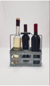 Borosüvegtartó 6 palack számára