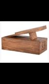 Cipőtisztító készlet fa dobozban