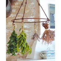 Fűszernövény és virágszárító, konyhaeszköztartó