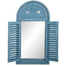 Kék antikolt tükör, zsalugáteres ablak forma