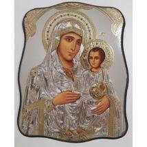 Mária és a gyermek Jézus szentkép, falikép fatáblán - 18 cm