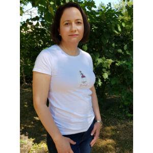 Mesehősös női póló, fehér - Tündérszép - M-es méretben