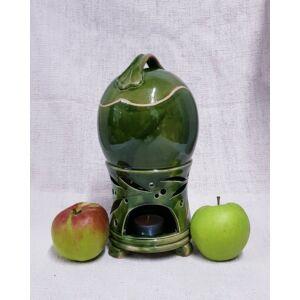 Kerámia almasütő, párologtató, zöld
