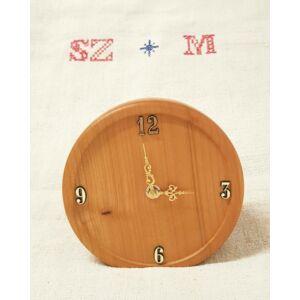 Kézműves asztali faóra