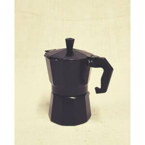 Retró kotyogós kávéfőző, 3 személyes, fekete