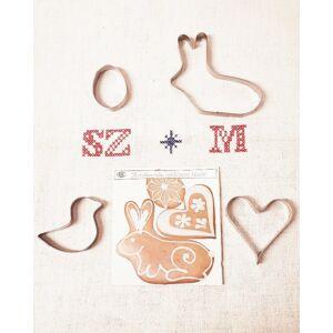 Húsvéti sütemény kiszúró formák, 4 darabos szett - Nyuszi, csibe, tojás, szív