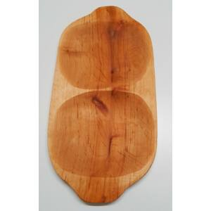 Nagy kínáló fatál, éger fából, 48 cm