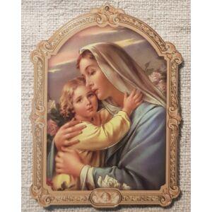 Kis méretű Mária és Jézus szentkép, fatáblán