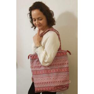 Kalotaszegi mintás, cipzáros női táska, vízálló PUL béléssel, 40x40