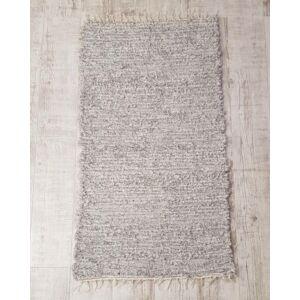 Kézzel szőtt, puha szürke szőnyeg, 136 cm