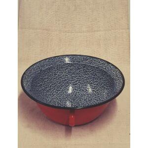 Piros, cirmos zománc vájling, 4 literes, 34cm