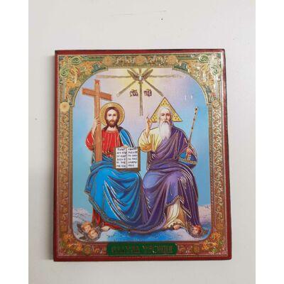 Az Atya, a Fiú és a Szentlélek szentkép fatáblán, 10 cm