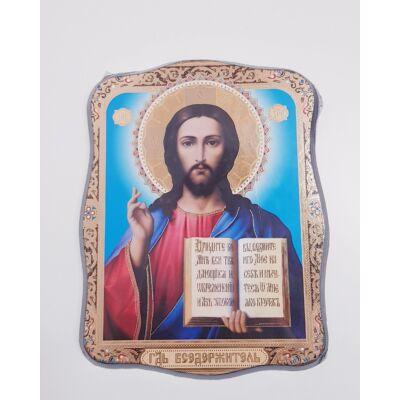 Jézus szentkép fatáblán - 23 cm