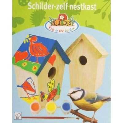 Natúr, festhető madárház, festékkel
