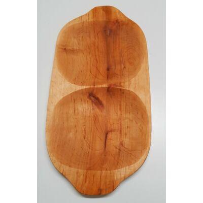 Kínáló fatál, éger fa, 48 cm hosszú