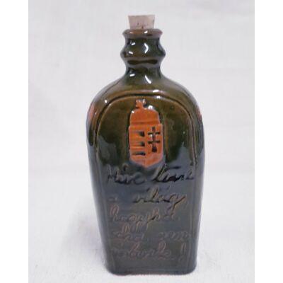 Kis pálinkás kerámia butella - Mivé lenne a világ...felirattal