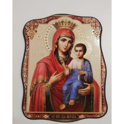 Mária és a gyermek Jézus szentkép, falikép fatáblán - 19 cm