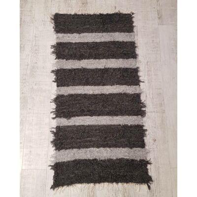 Kézzel szőtt sötétszürke szőnyeg, 160 cm