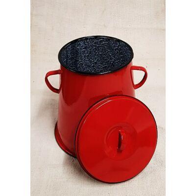 Piros bonyhádi zsírosbödön, 5 literes