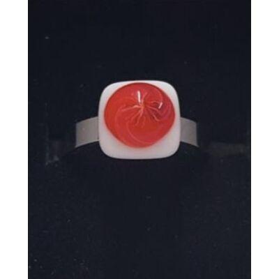 Pipacsos üvegékszer gyűrű