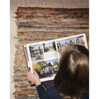 Kézzel szőtt színes pamut szőnyeg, 90 cm