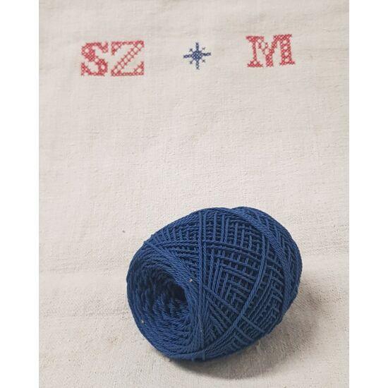 Kék, pamut szalámikötöző
