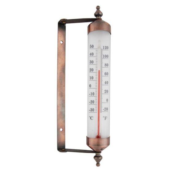 Ablakra rögzíthető, antik stílusú kültéri hőmérő