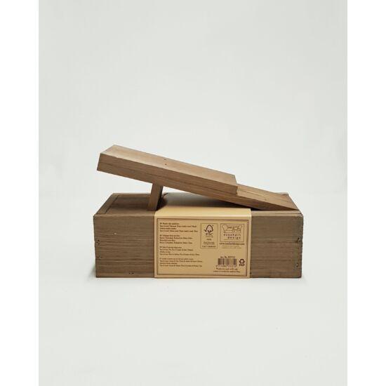 Retro cipőtisztító készlet fa dobozban