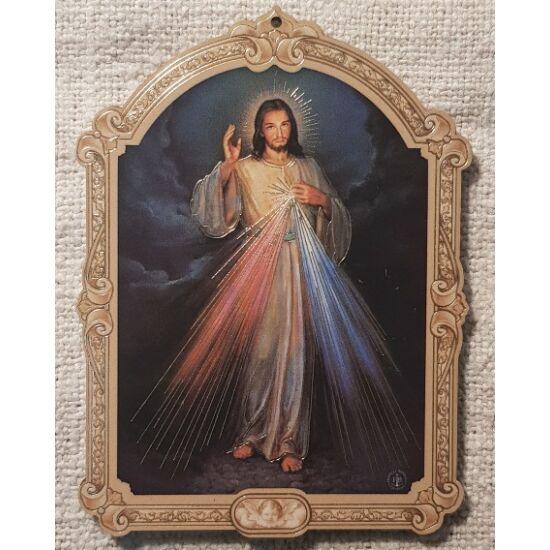 Kis méretű Jézus szentkép, fatáblán