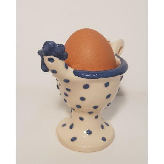 Kék kakasos kerámia tojástartó