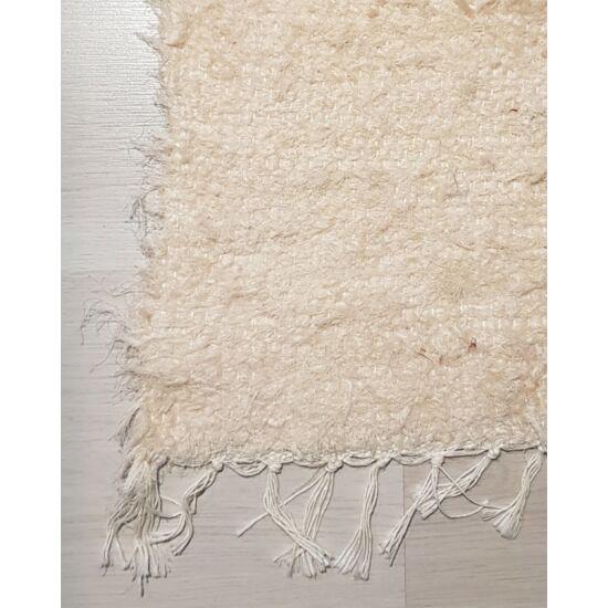 Kézzel szőtt krém pamut szőnyeg, 110 cm