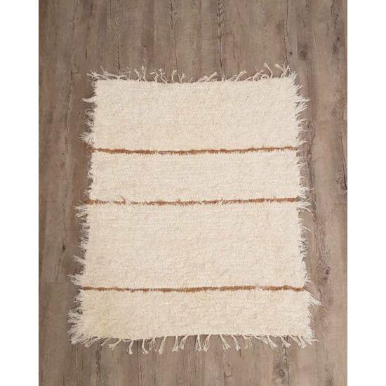 Kézzel szőtt krém színű pamut szőnyeg, 92 cm