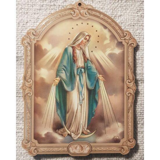 Kis méretű Mária szentkép, fatáblán