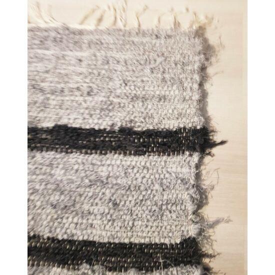 Kézzel szőtt szürke-fekete pamut szőnyeg, 100 cm