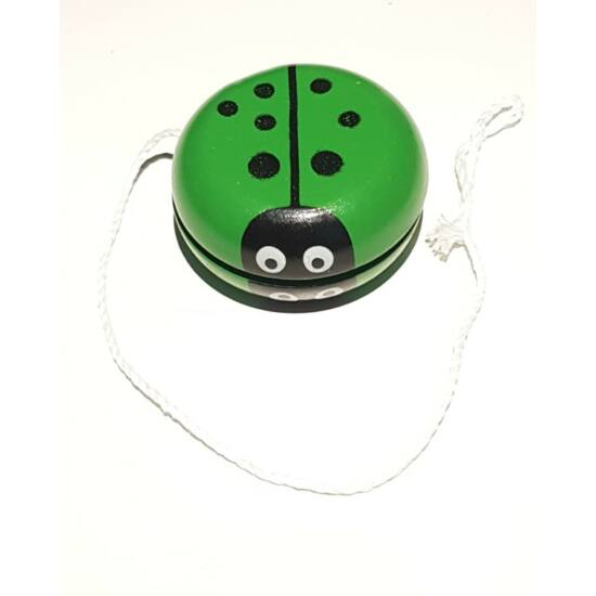 Zöld katicás fa jojó